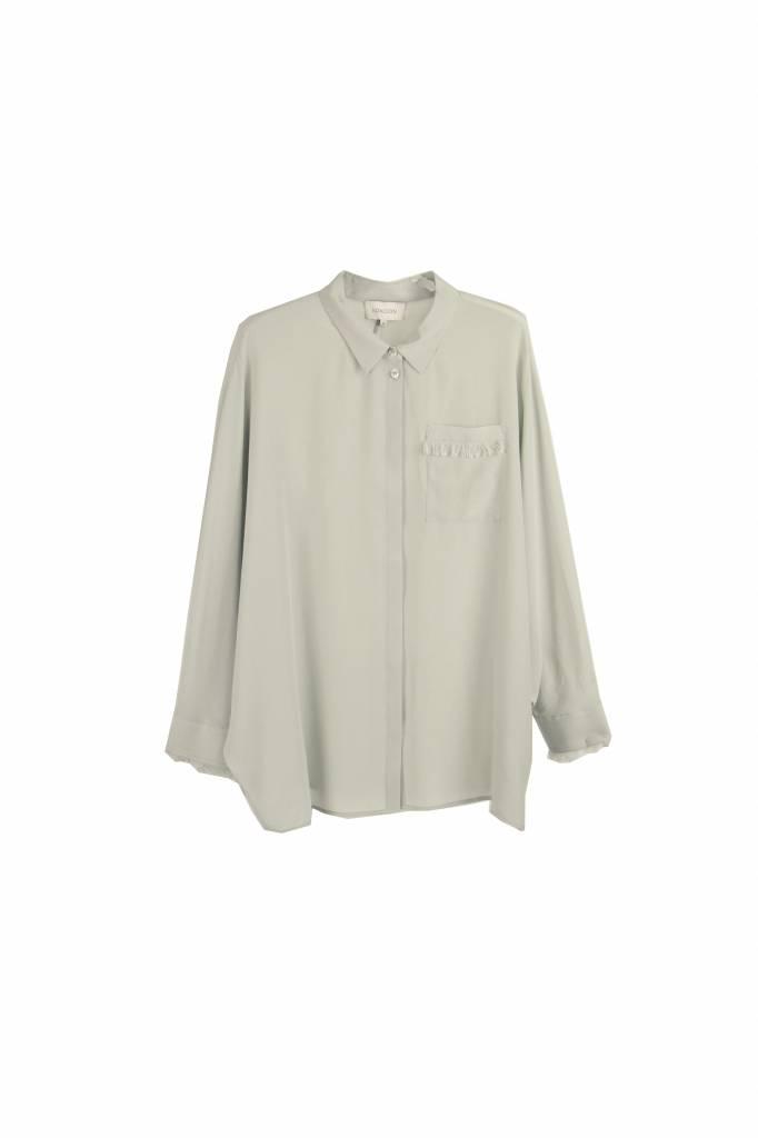 Kokoon Baily fringe shirt ice