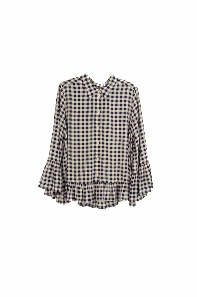 Kokoon Hobie blouse  navy white check