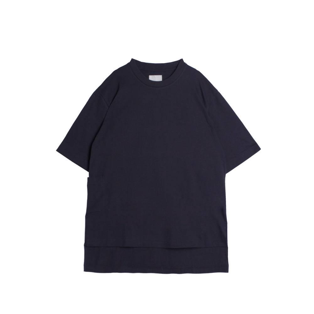 Stand Aloné t-shirt long slit pocket marine