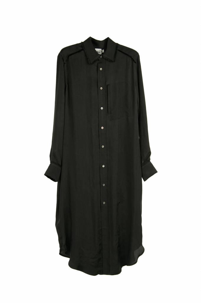 Hope Wave shirt dress black