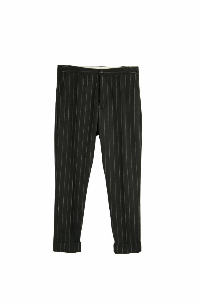 Hope Law trouser black chalk white stripe