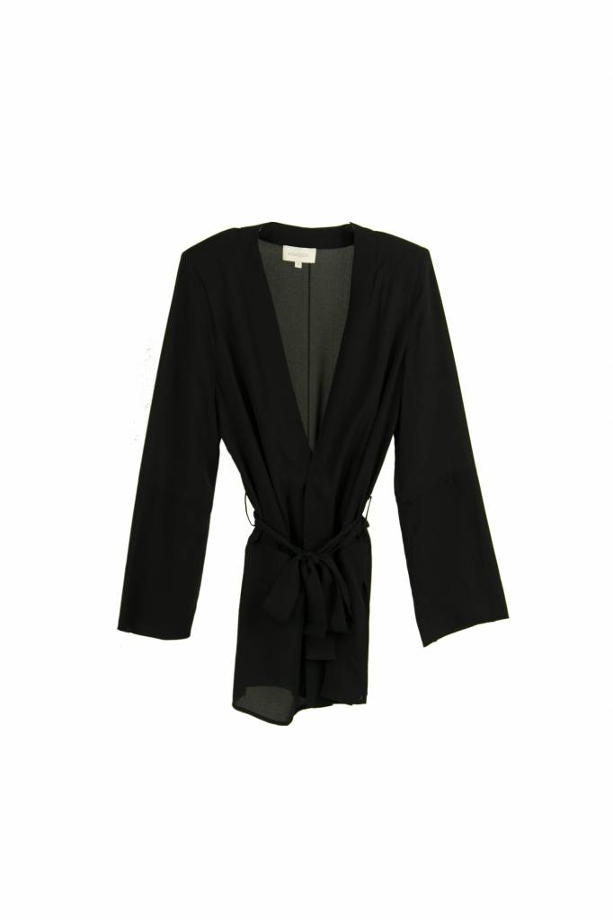 Kokoon Nebo coat black silk