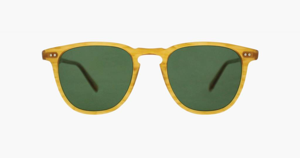 Garrett Leight Brooks butterscotch with green polarized