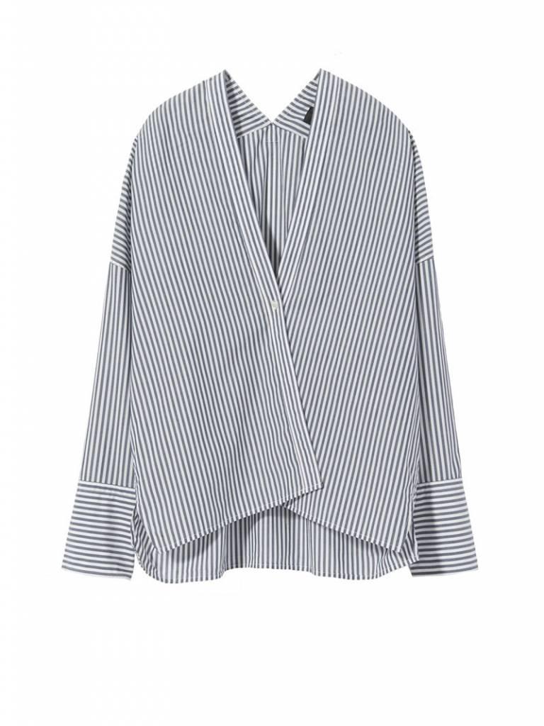 Nili Lotan Sabine shirt marine and white stripe
