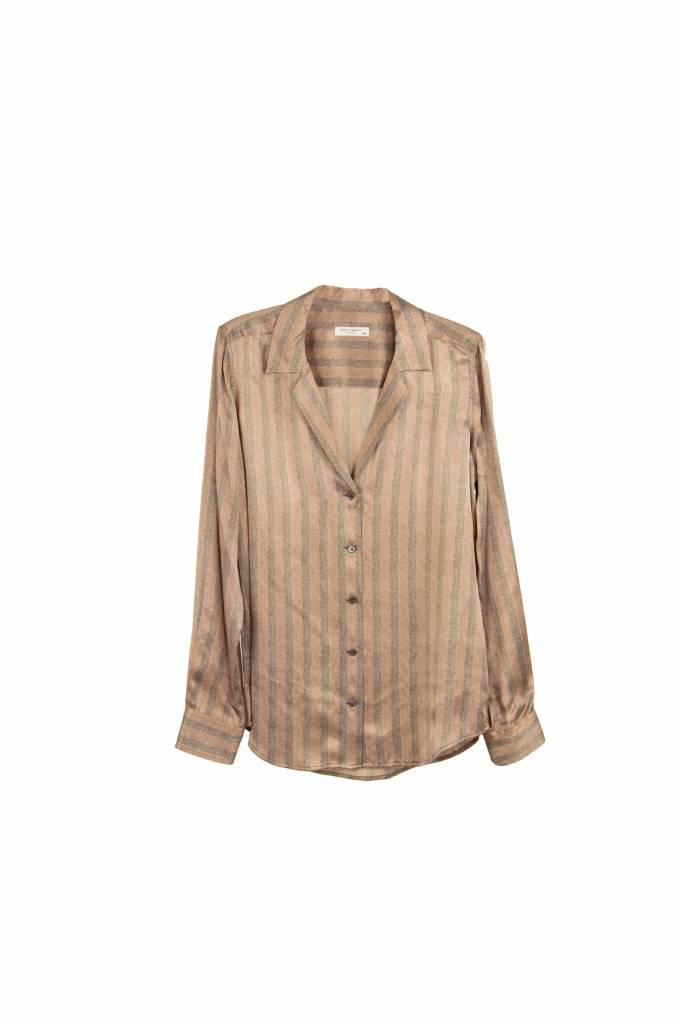 Equipment Adalyn blouse french nude - brunette