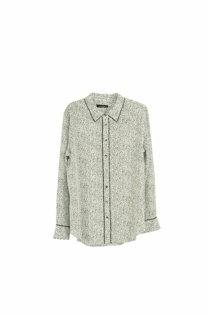 Equipment Slim signature blouse black and white