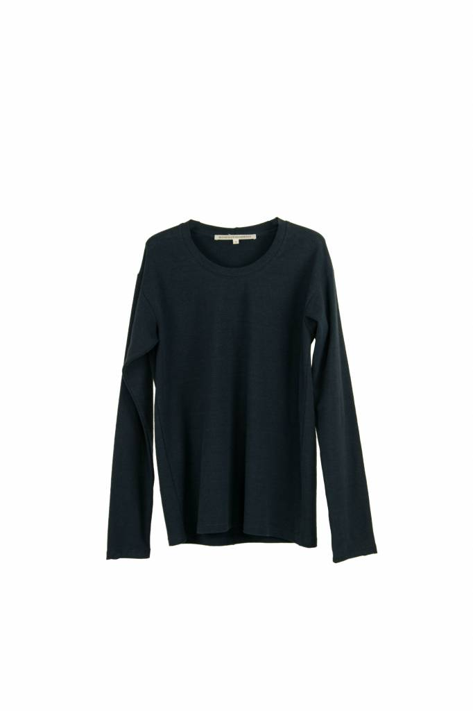 Monique van Heist sweater S longsleeve t-shirt navy hemp