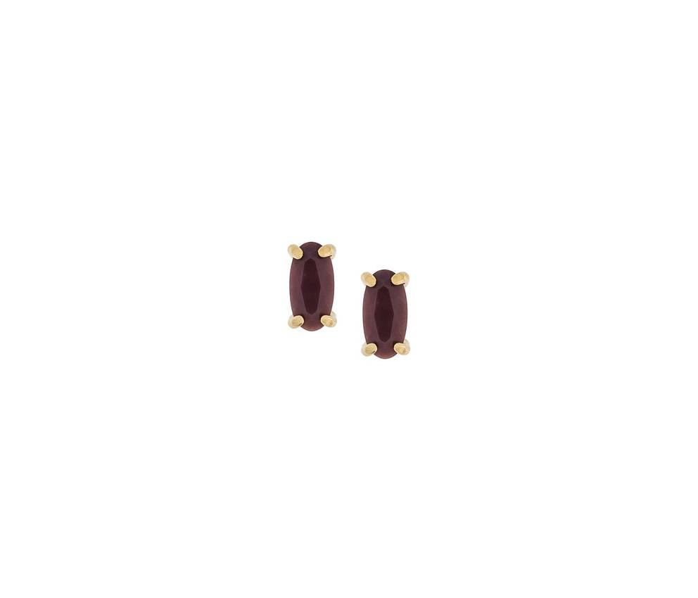 Wouters & Hendrix red jasper  stud earrings