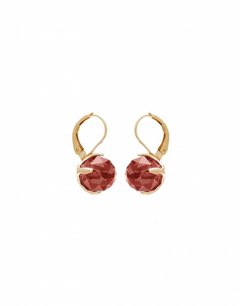 Wouters & Hendrix carnelian clip earrings gold plated