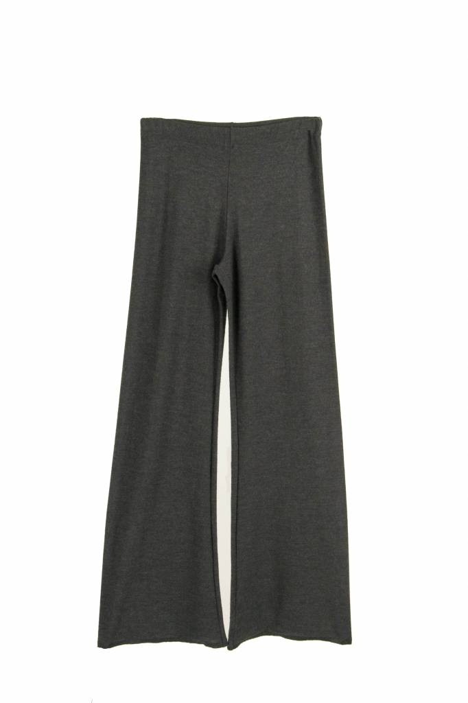 Fine Edge merino flare trousers anthracite