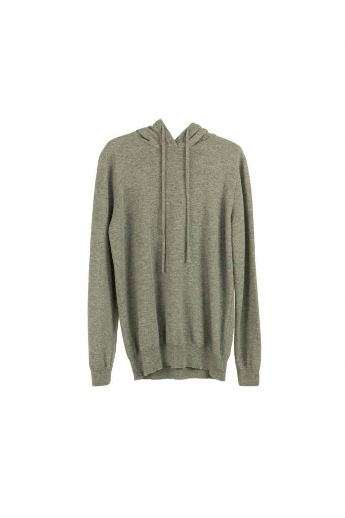 Fine Edge hooded sweater grey