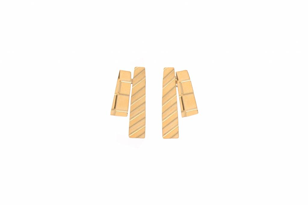 Wouters & Hendrix etched  stud earrings