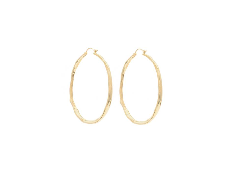 Wouters & Hendrix hammered hoops gold plated