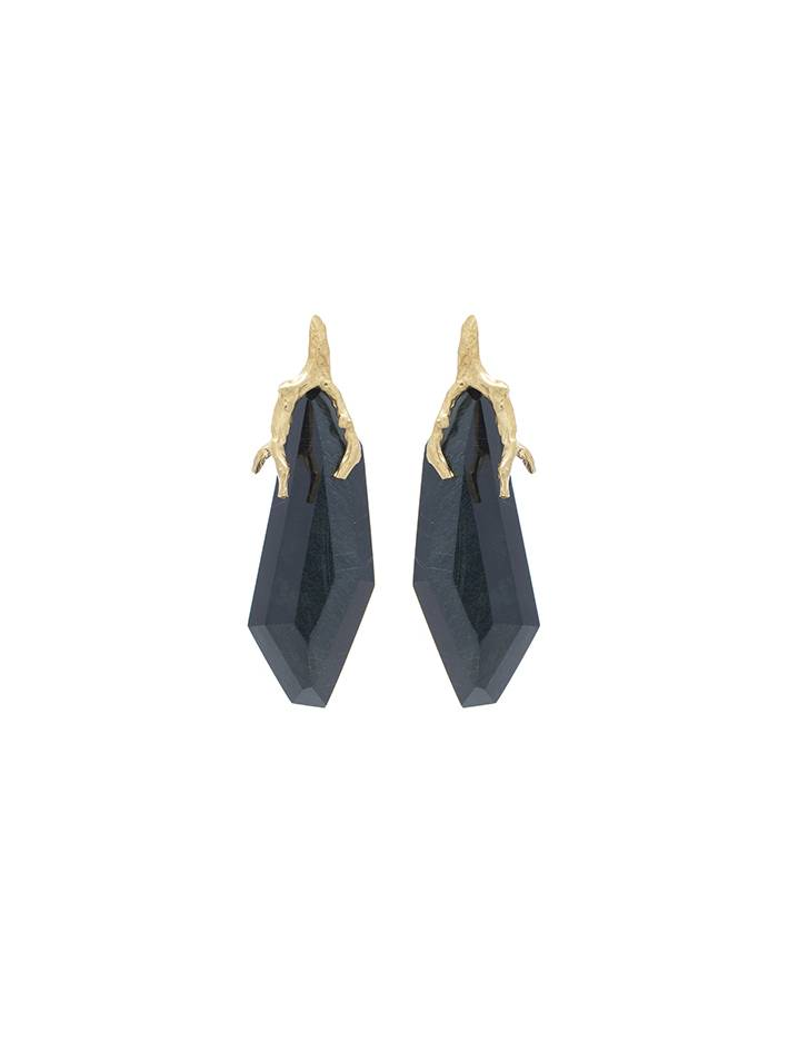 Wouters & Hendrix signature claw tiger eye earrings