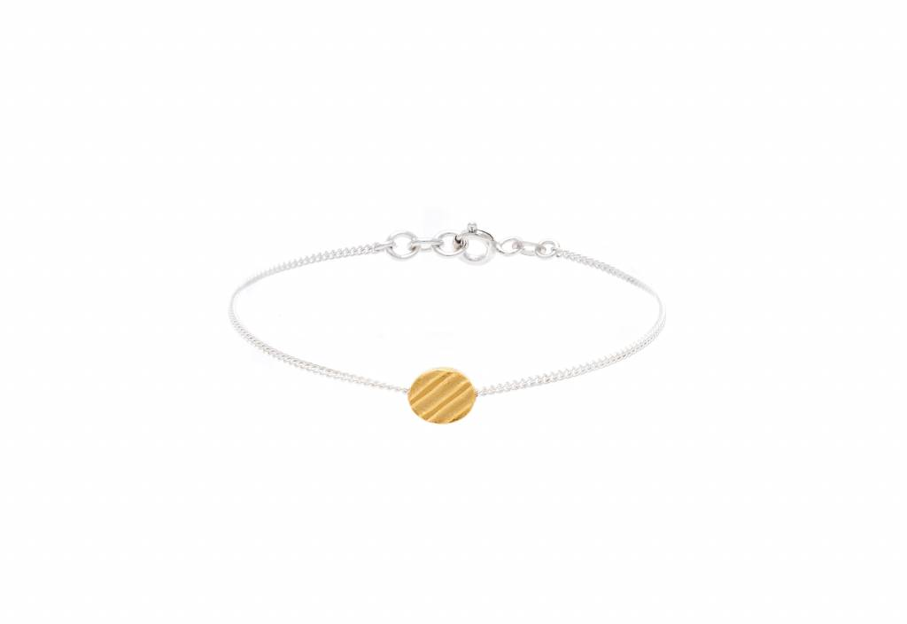 Wouters & Hendrix etched coin bracelet