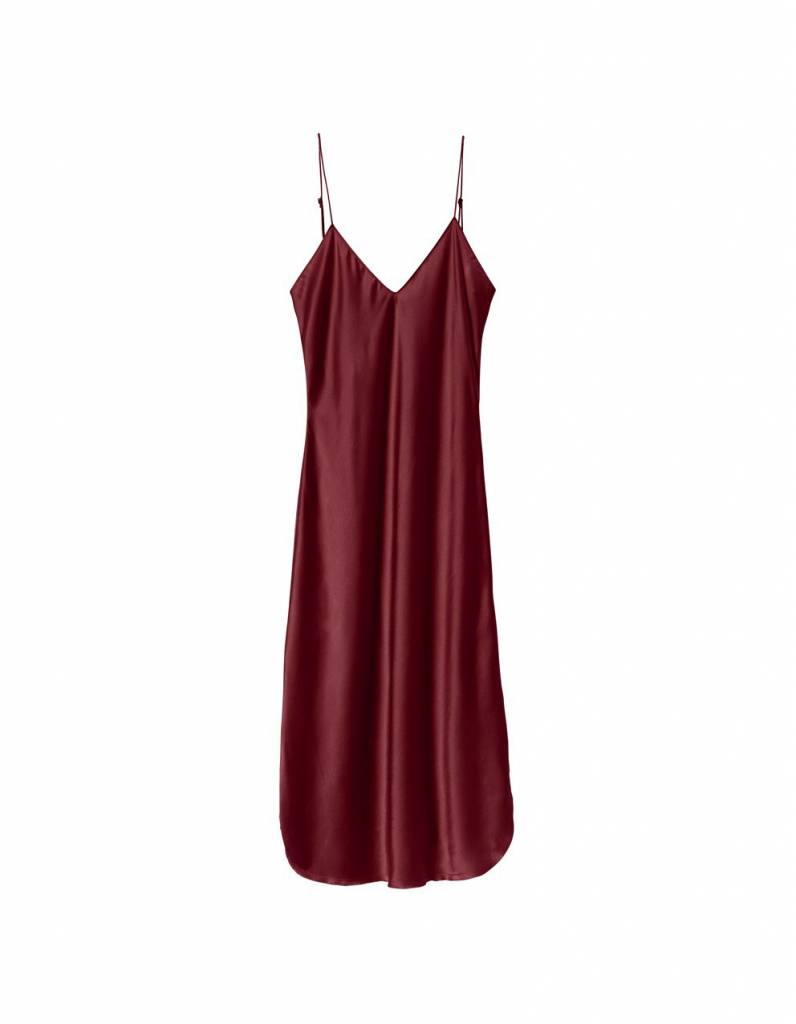 Nili Lotan Short Cami dress burgundy
