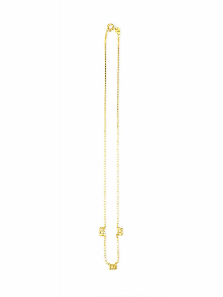 Martine Viergever Fringe 3 necklace gold