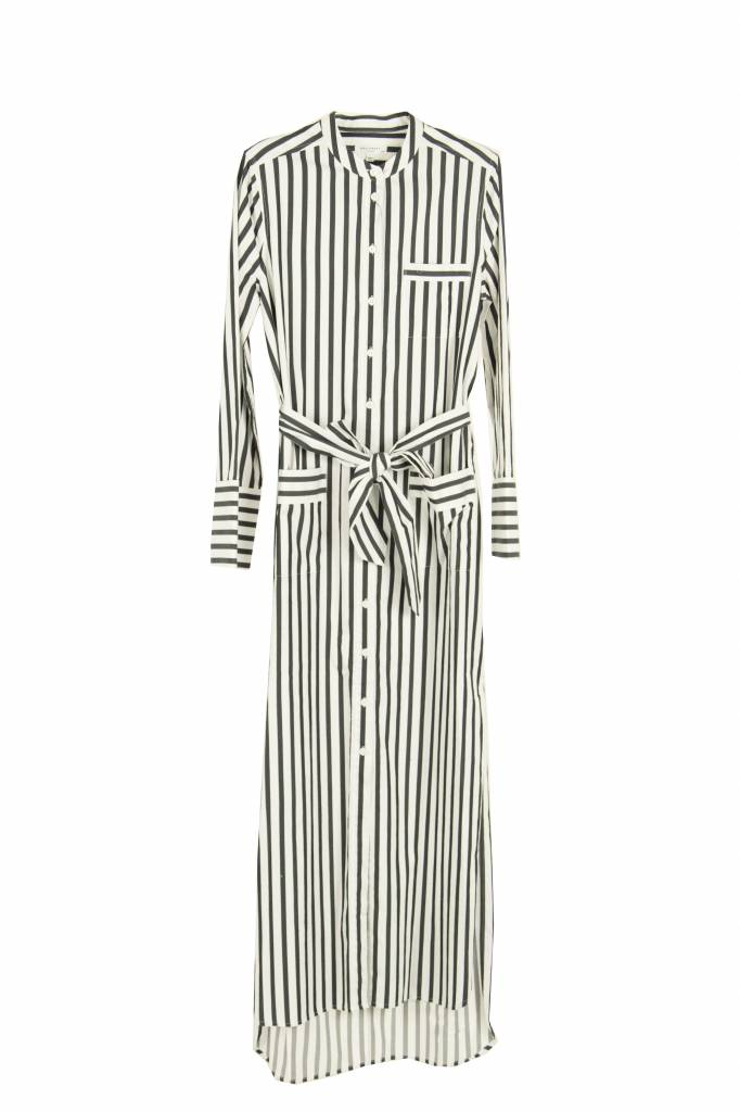 Equipment Britten Maxi dress black and white