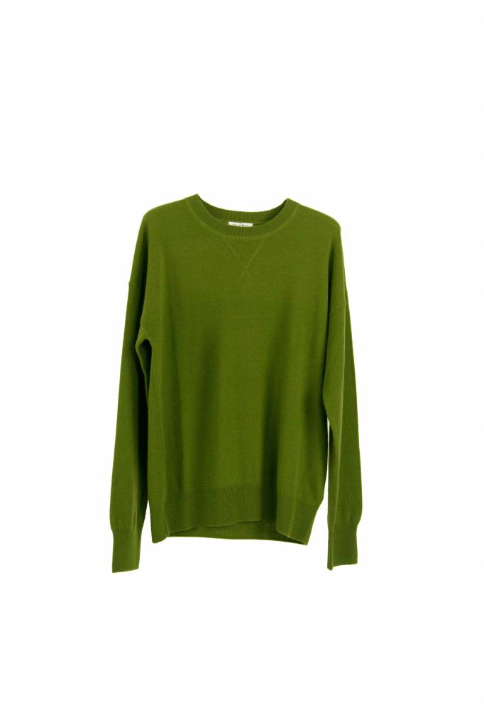 Equipment Renee cashmere sweatshirt combat green