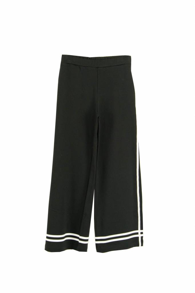 Fine Edge Jersey jogging pantalon black stripe
