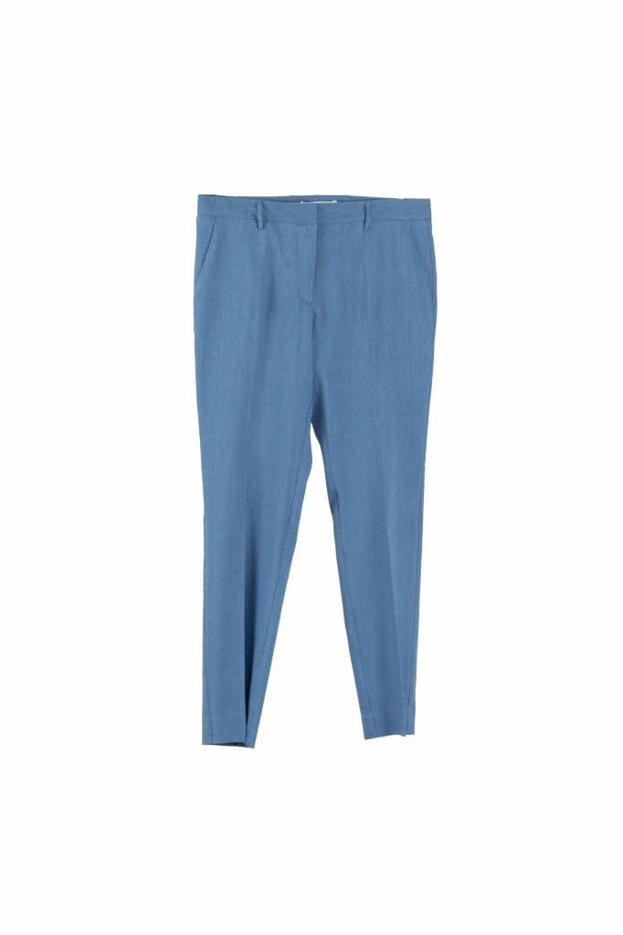 Pomandère pantalon electric blue linen