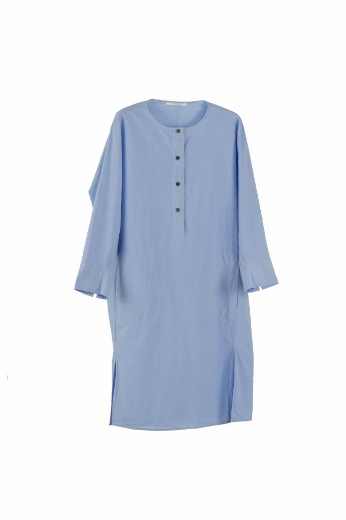 Pomandère long blouse light blue