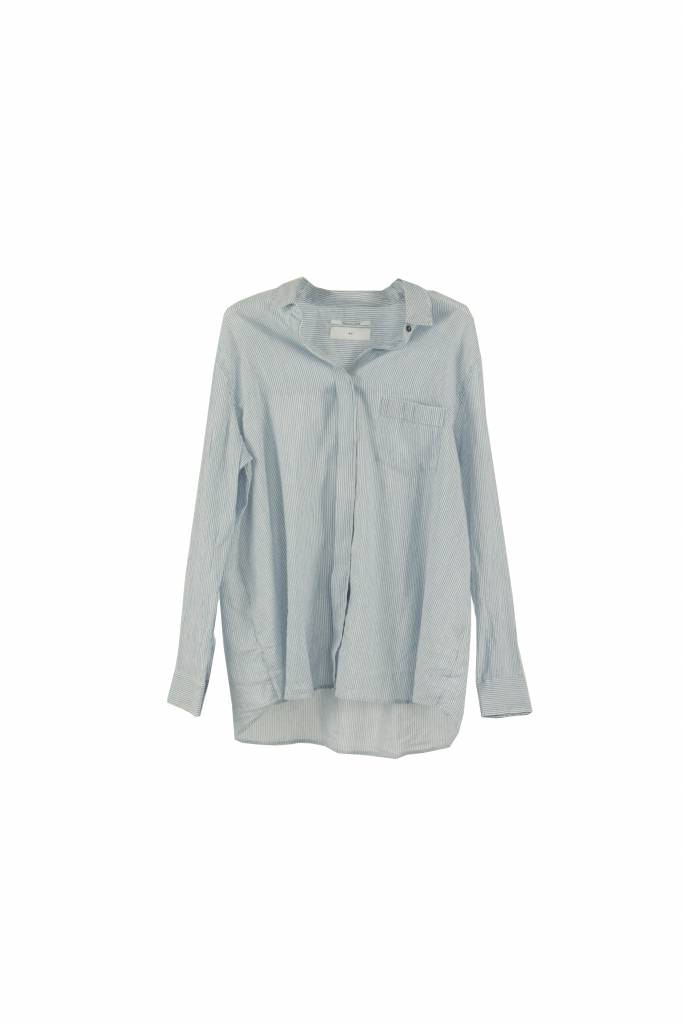 Pomandère blouse stripe blue white