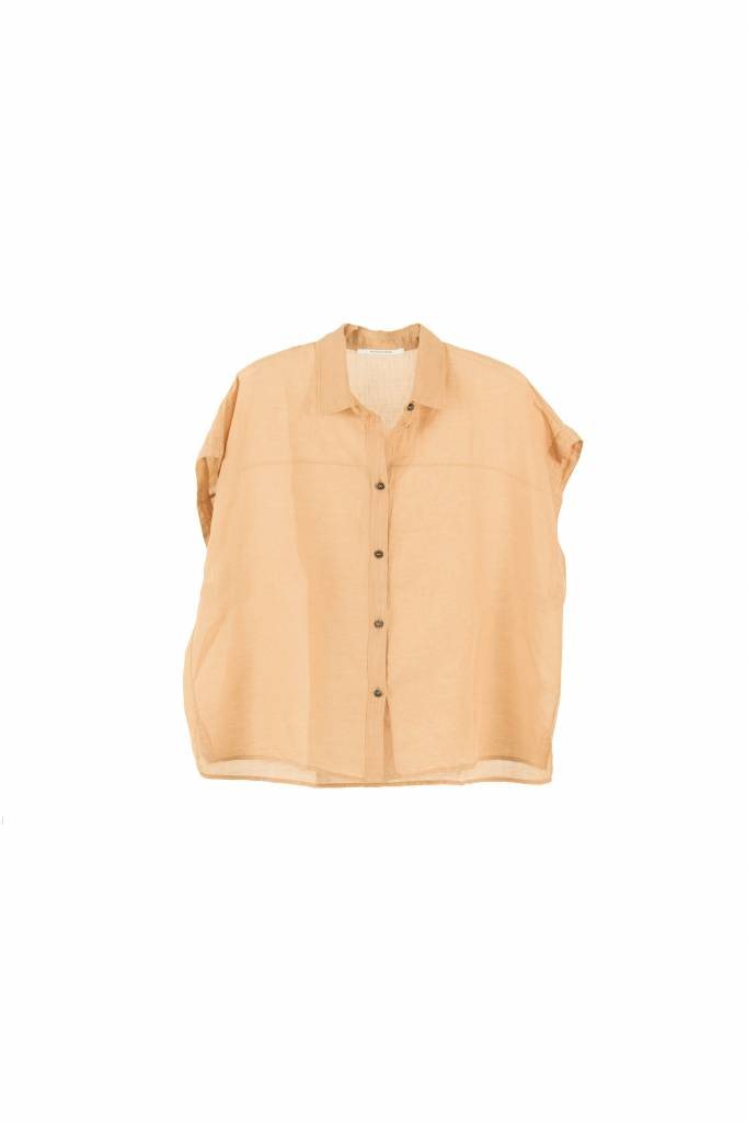 Pomandère blouse old pink half sleeve