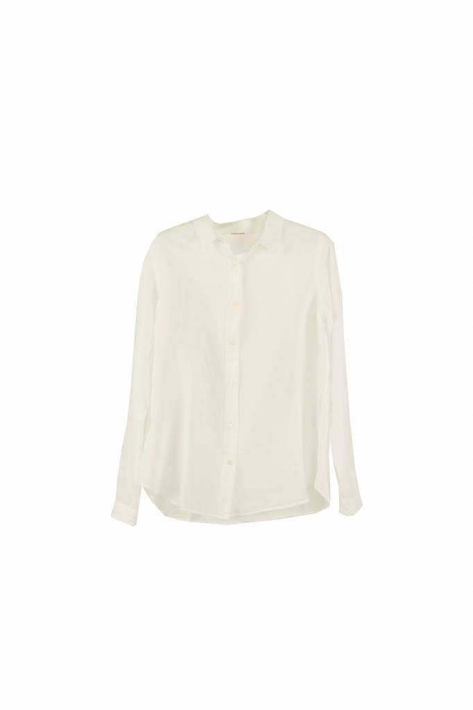 Pomandère blouse white linen