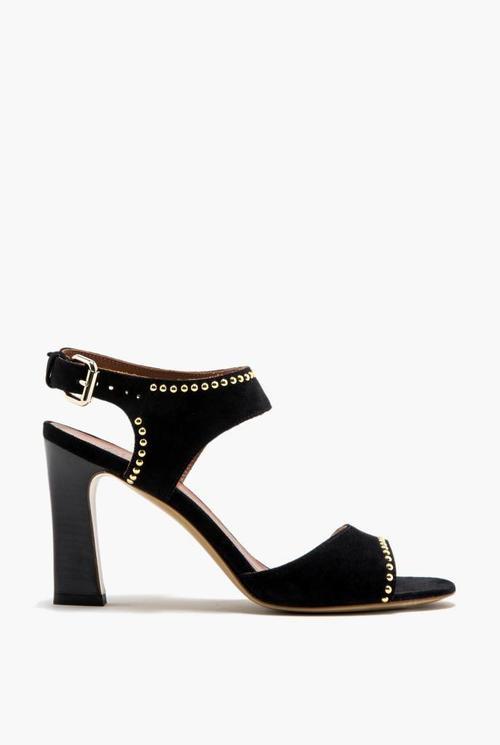 Janet heel black/gold studs