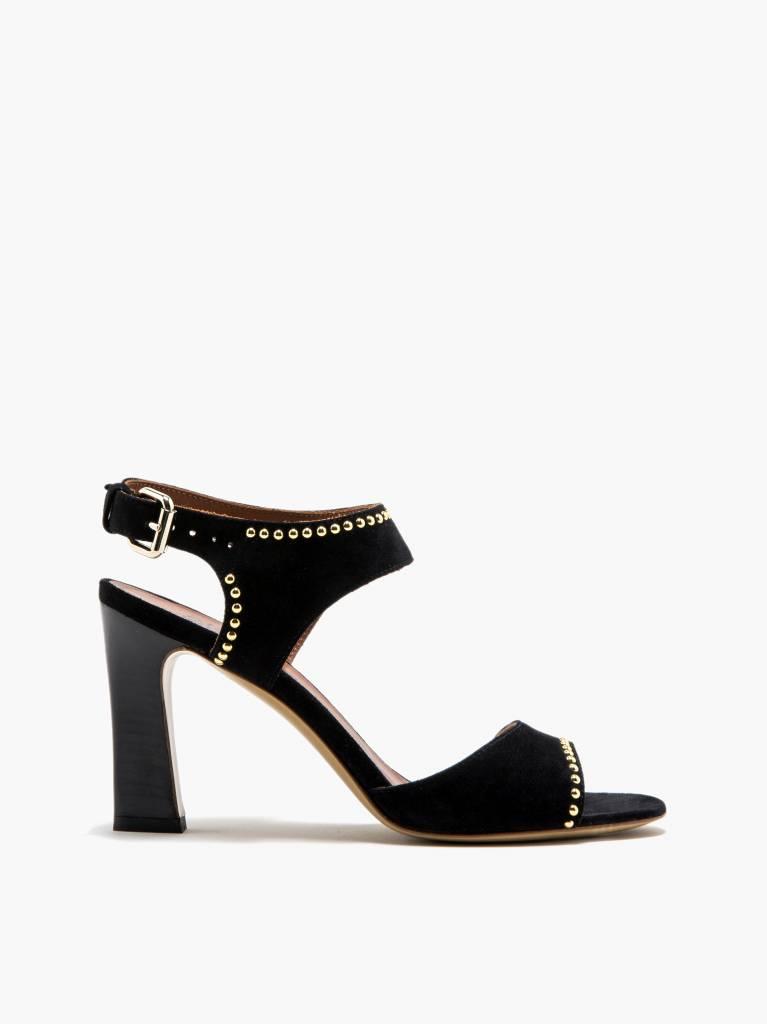 Michel Vivien Janet heel black/gold studs
