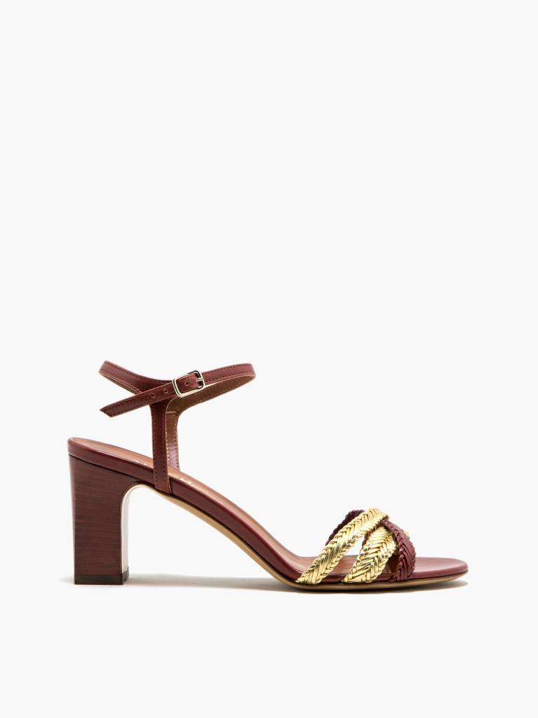 Michel Vivien Fiona heels red/gold