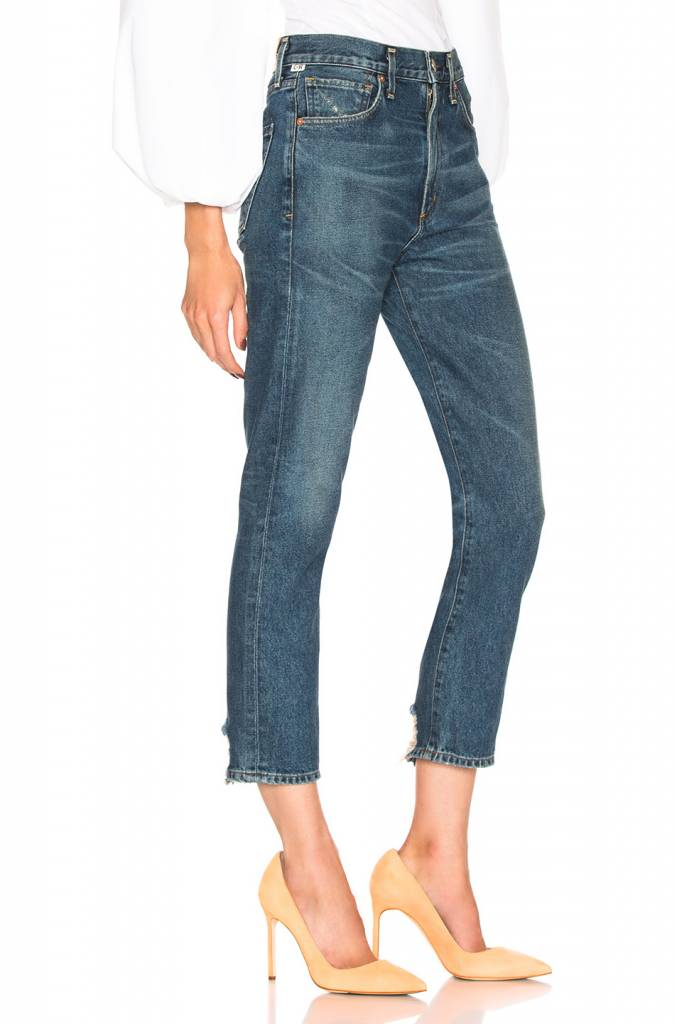 Dree crop high rise jeans in harmony