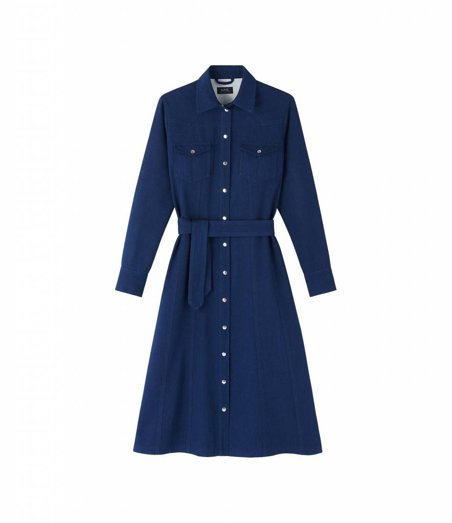 A.P.C. dress Annie indigo jeans