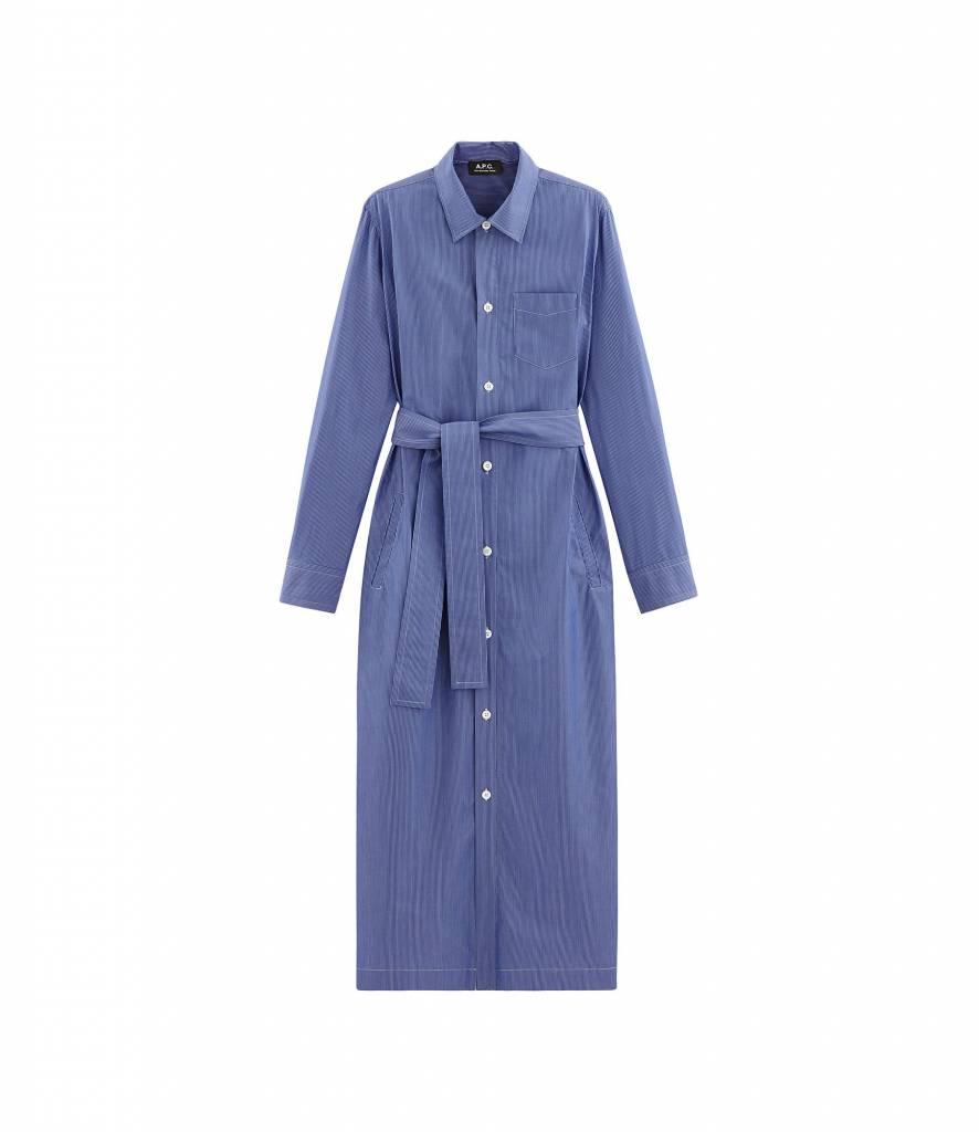 A.P.C. Dress Millie blue stripe