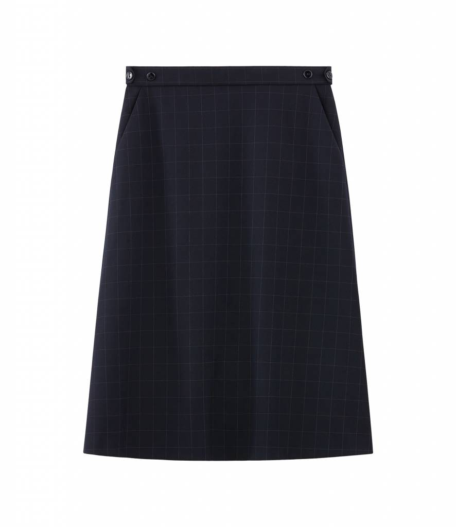 A.P.C. skirt Garance dark blue pin stripe