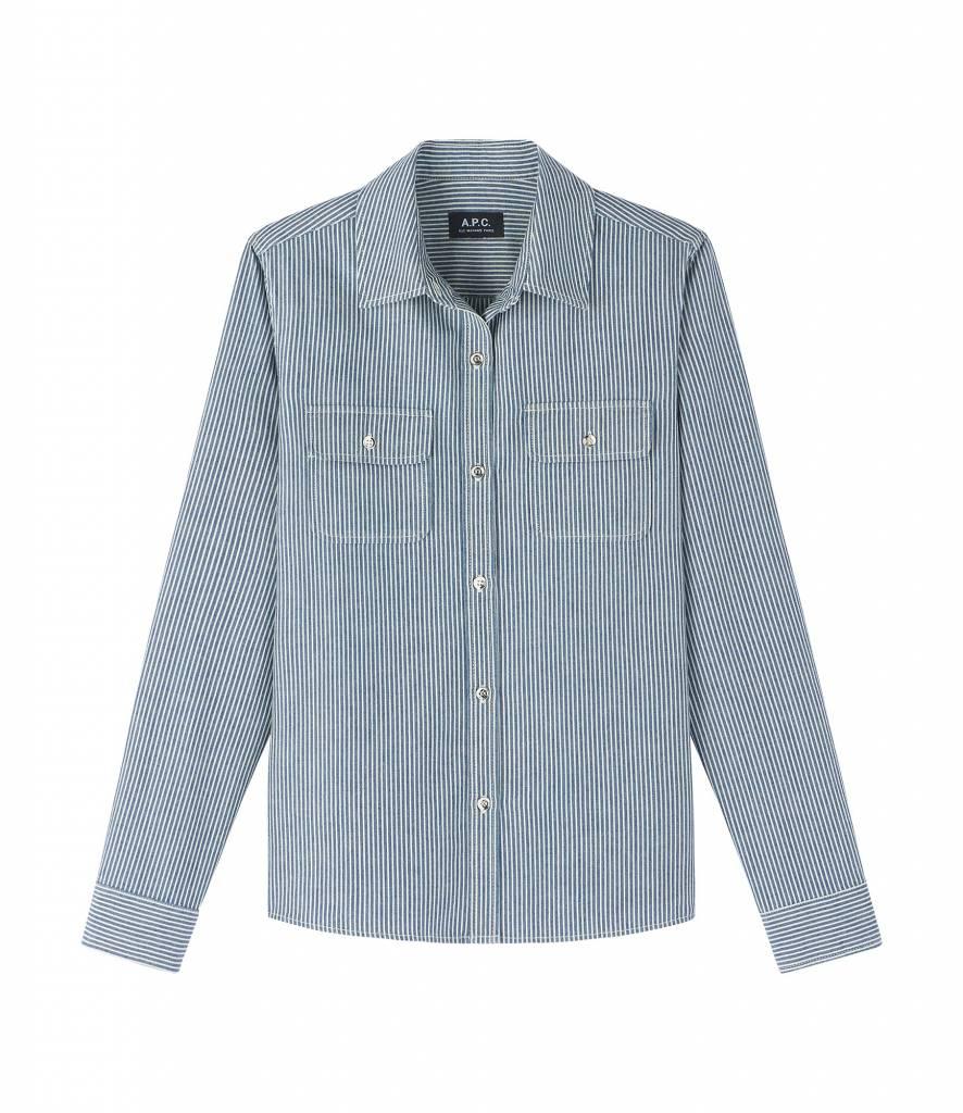blouse girl indigo stripe