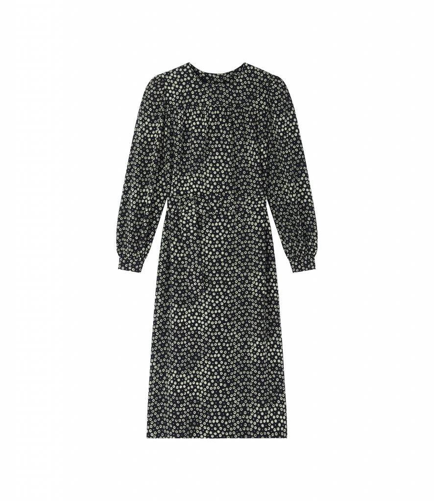 A.P.C. dress marguerite black print green