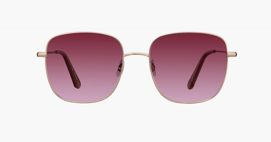 Garrett Leight Tuscany sunglasses rose gold cherry bomb