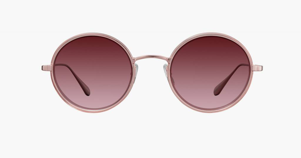 Garrett Leight Playa sunglasses pink crystal-rose gold cherry bomb