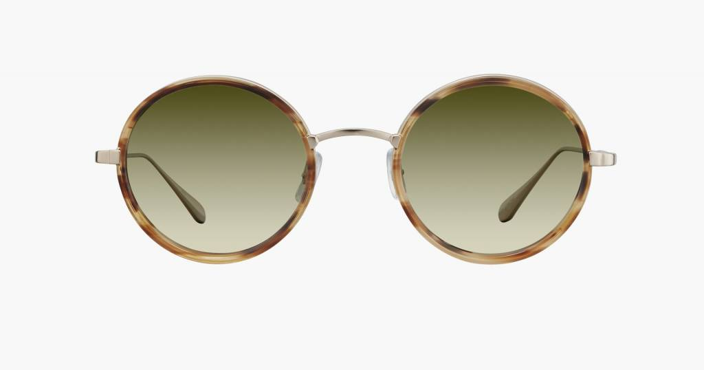 Garrett Leight Playa sunglasses walnut tortoise olive gradient