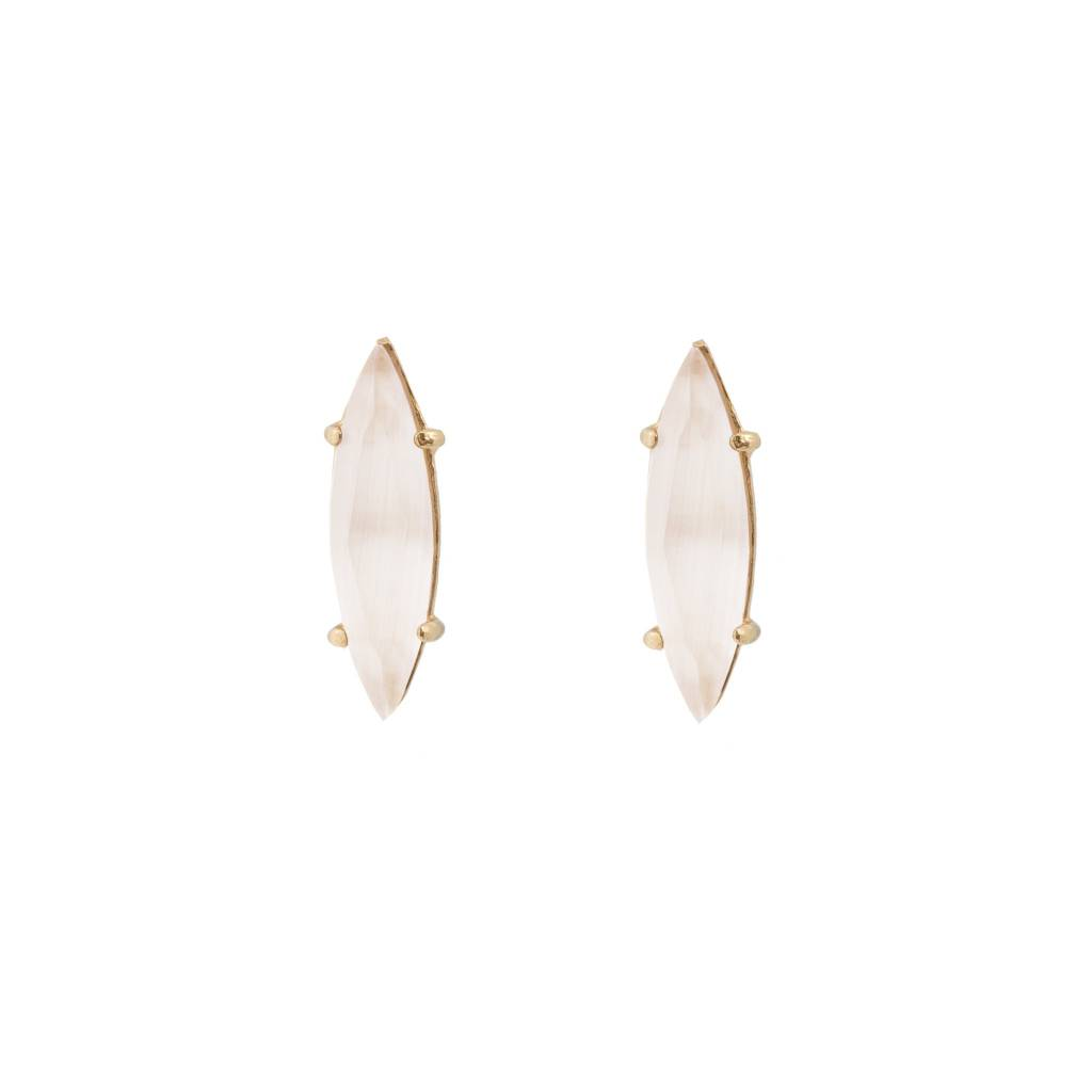 Wouters & Hendrix goldplated earrings with oval m.o.p.