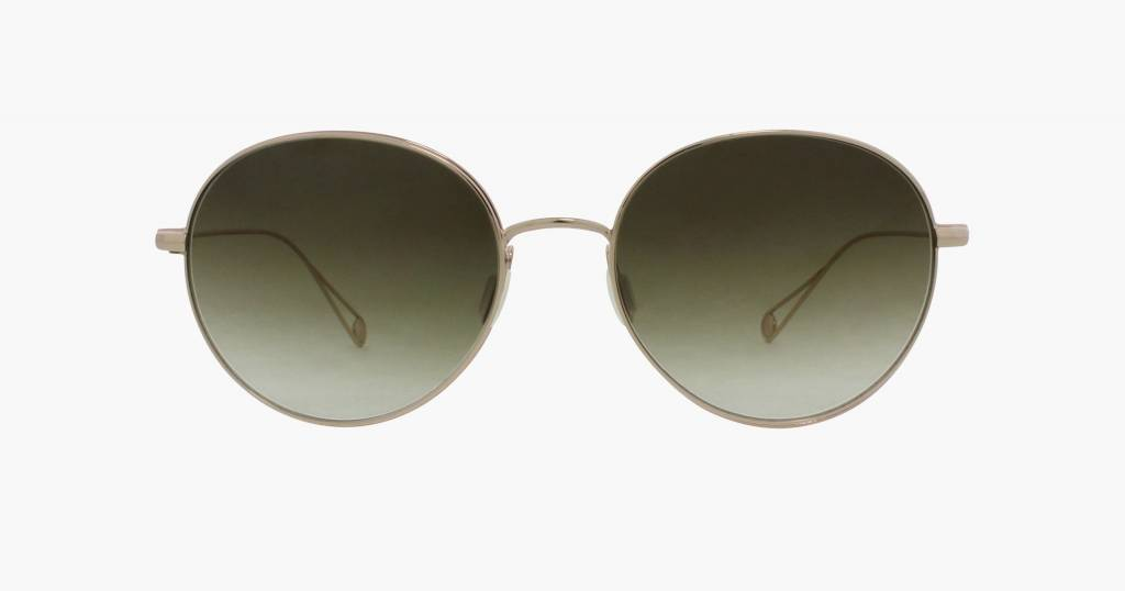 Garrett Leight Valencia sunglasses gold olive gradient