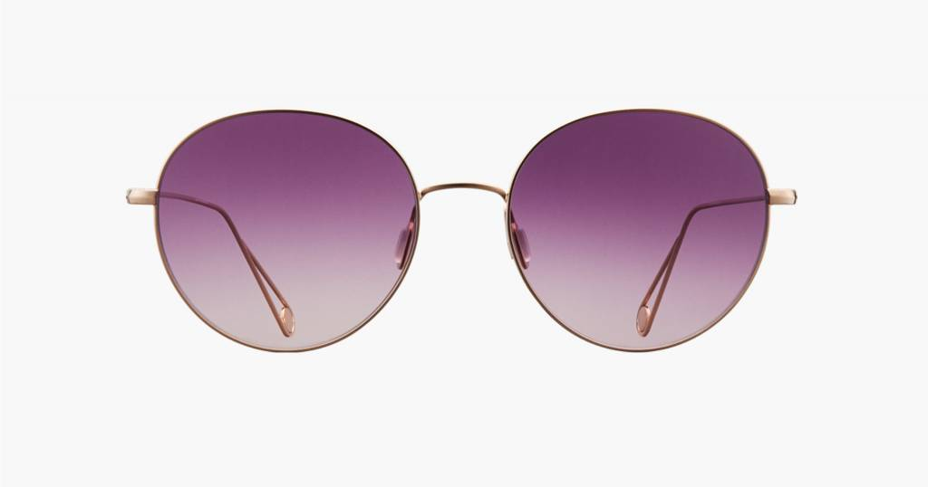Garrett Leight Valencia sunglasses rose gold lavender gradient