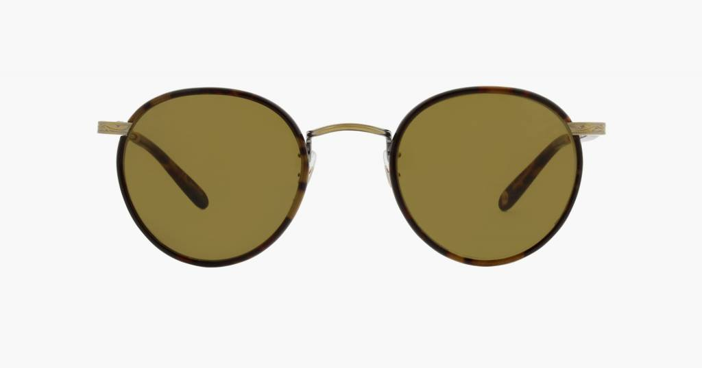 Garrett Leight Wilson sunglasses bourbon tortoise pure brown