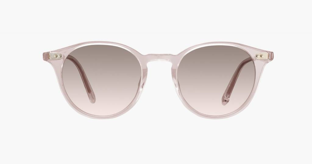 Garrett Leight Clune sunglasses nude pink haze mirror