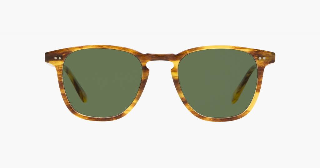 Garrett Leight Brooks sunglasses pinewood pure green