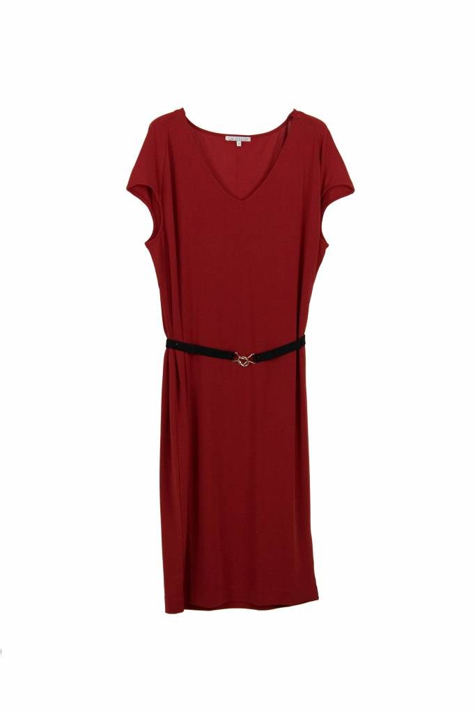 Rue Blanche Zoup V neant dress red