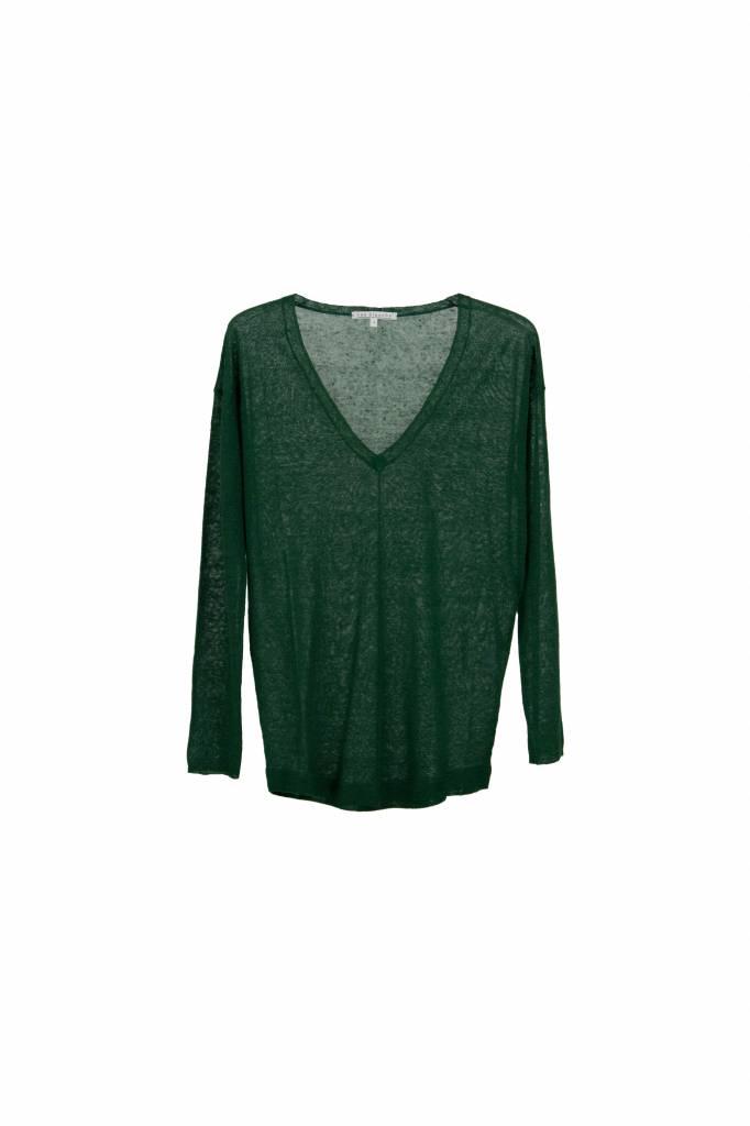 Rue Blanche Lin V 18E neant top emerald