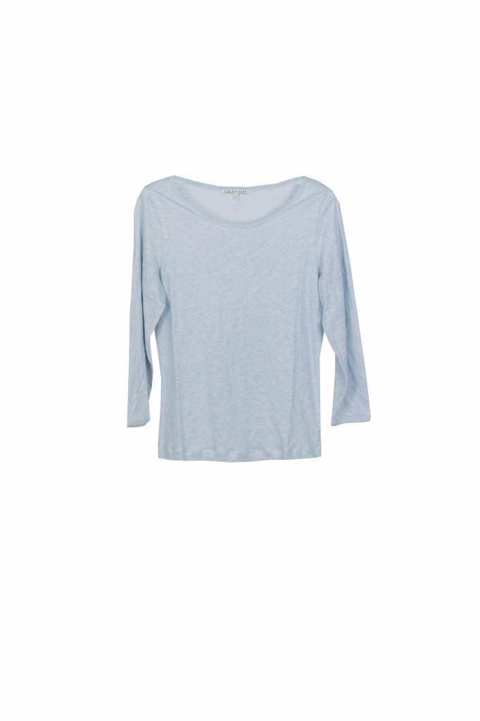 Rue Blanche Lino 3/4 t-shirt babyblue